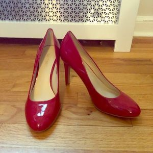 Nine West Red Patent Leather Heels Size 8